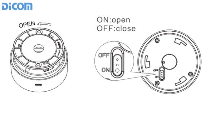 """Gạt nút nhấn ở mặt sau thiết bị về chế độ """"ON""""."""