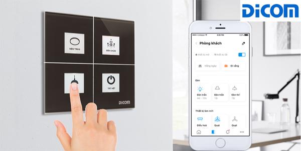 Điều khiển công đèn thông minh qua app điện thoại