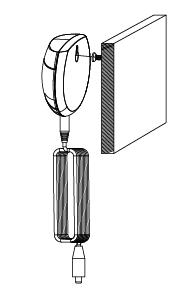 Treo thiết bị cảnh báo vào đinh viết cố định để sử dụng